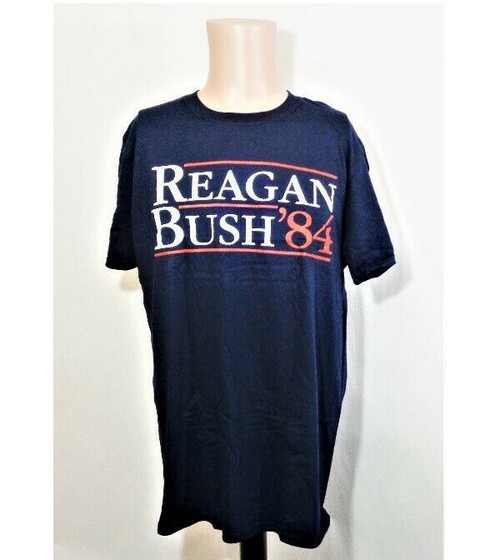 Gildan Reagan & Bush '84 Men's T Shirt Size L *NEW, Open Package*