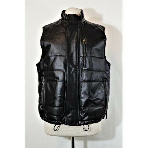 Outdoor Exchange Men's Black Leather Vest Size S