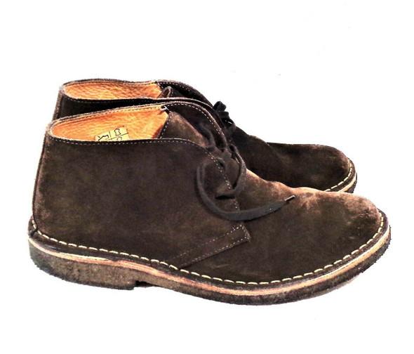 Vera Pelle Brown Suede Chukka Boots Men's Size 7