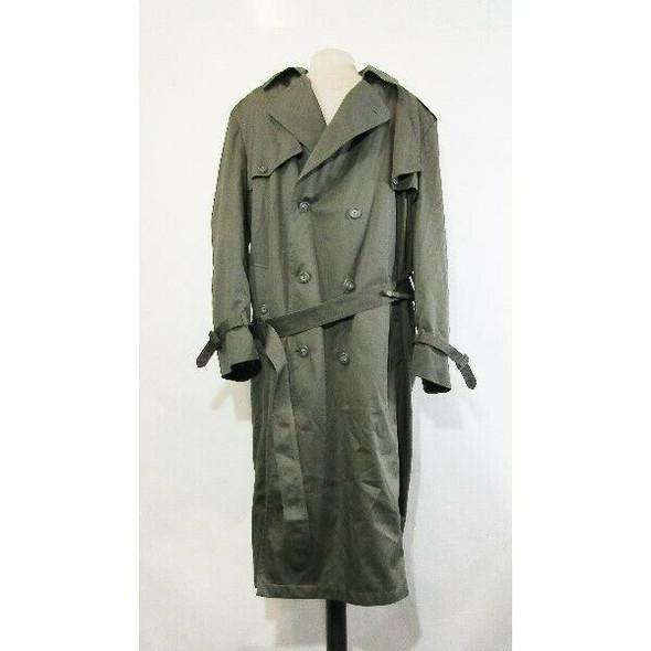 Towne by London Fog Men's Green Fleece Lined Trench Coat Size 44 Long