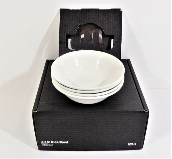 """Made In Cookware 4pc White 6.5"""" Side Bowls *Open Box--See Description*"""