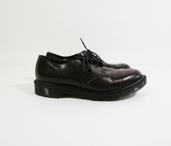 Dr Martens AirWair Men's Dark Brown Smooth Leather Oxford Shoes Size 8 **SCUFFS*