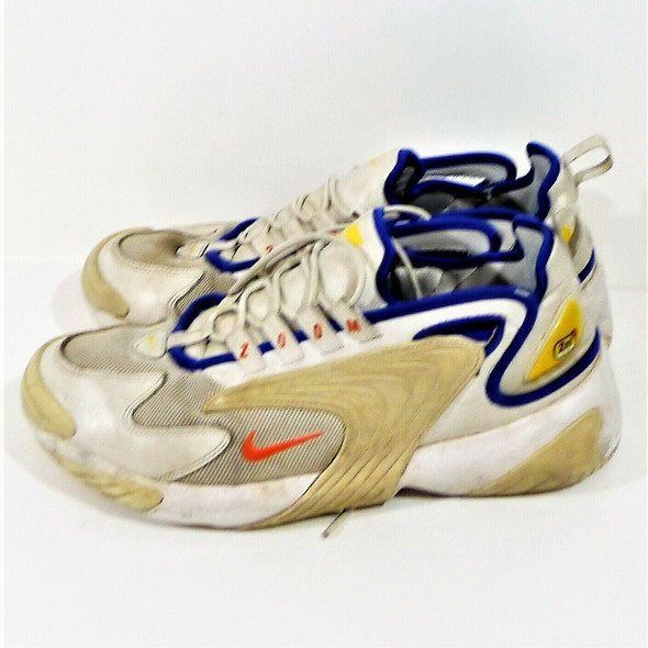 Nike Zoom Air 2k Platinum White & Blue Sneakers Men's Size 10
