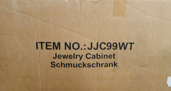 Songmics Jewelry Cabinet JJC99WT *NEW, OPEN BOX* LOCAL PICKUP ONLY, AUSTIN TX