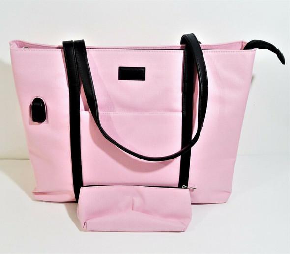 Unbranded Pink Canvas Laptop Bag *NEW*