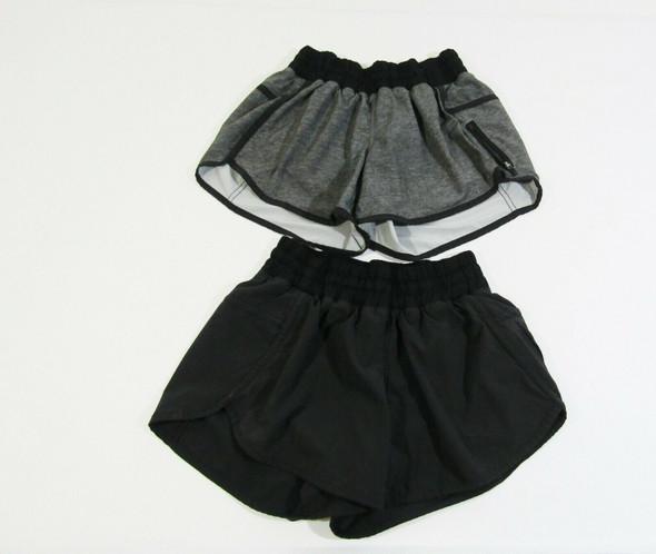 Lululemon Women's Set of 2 Activewear Shorts w/ Pocket Size 4 **Light Fraying**