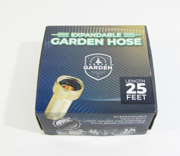 Joey's Garden Expandable Garden Hose, 25 Feet w/ Nozzle **NEW, OPEN BOX**
