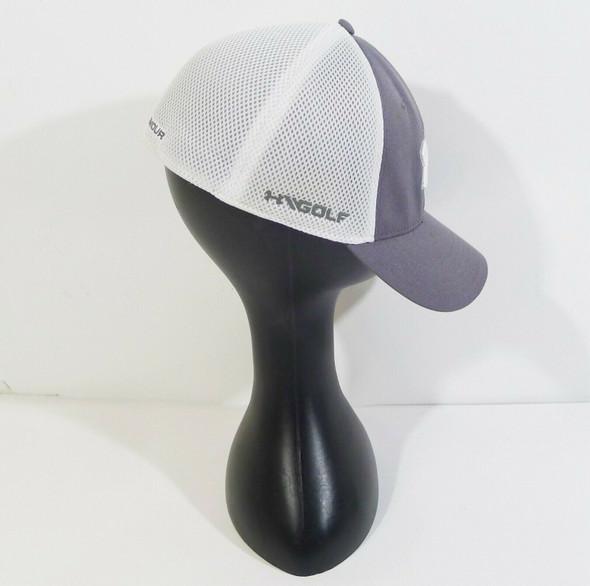 Under Armour Grey & White Mesh Golf Cap L/XL (Men's)