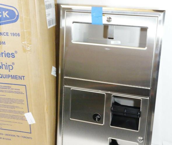 Bobrick B-35745 Recessed Seat-Cover Dispenser, Napkin Disposal, Tissue Dispenser