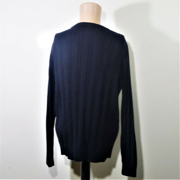 Nautica Navy Blue Cable Knit Pullover Sweater Men's Size M