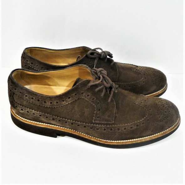 Tod's Brown Suede Brogue Dress Shoes Men's U.S. Size 9