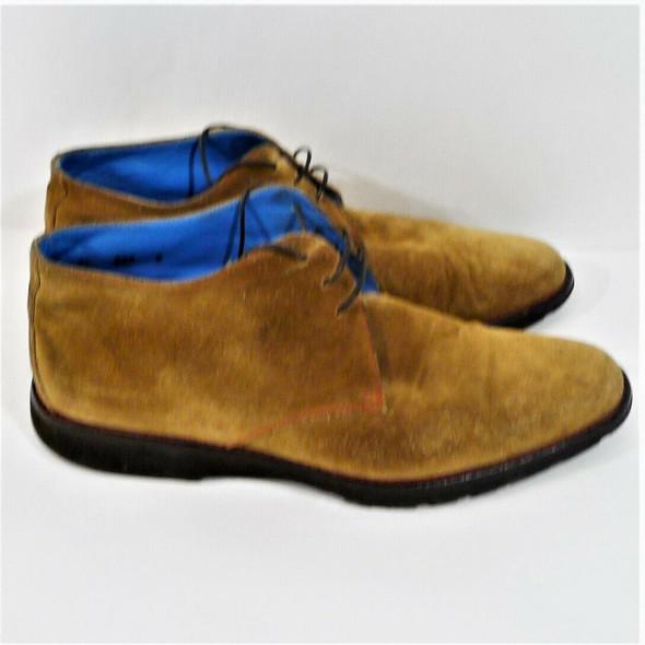 Michael Toschi Brown Suede Chukka Dress Shoes Men's Size 8