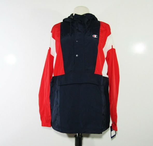 Champion Red, White & Blue Unisex Pullover Windbreaker Jacket Size Medium **NWT