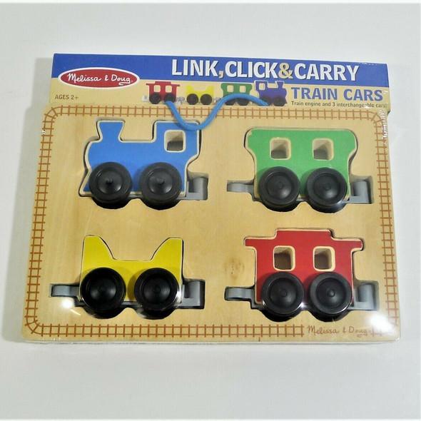 Melissa & Doug Link, Click & Carry Train Cars Set Ages 2+ *NEW*