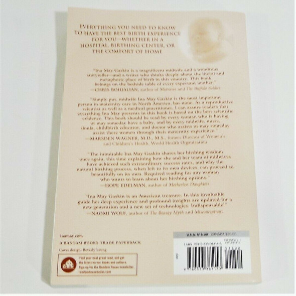 Ina May's Guide to Childbirth by Ina May Gaskin Paperback Book