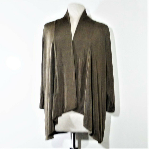 Additions by Chico's Metallic Brown Cardigan Sweater Women's Size 3