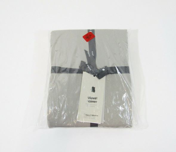 West Elm Organic Washed Cotton Duvet, Full/Queen, Pearl Gray **NEW WITH TAGS**