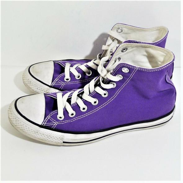 Converse All Star Purple High Top Sneakers Women's Size 9/Men's Size 7