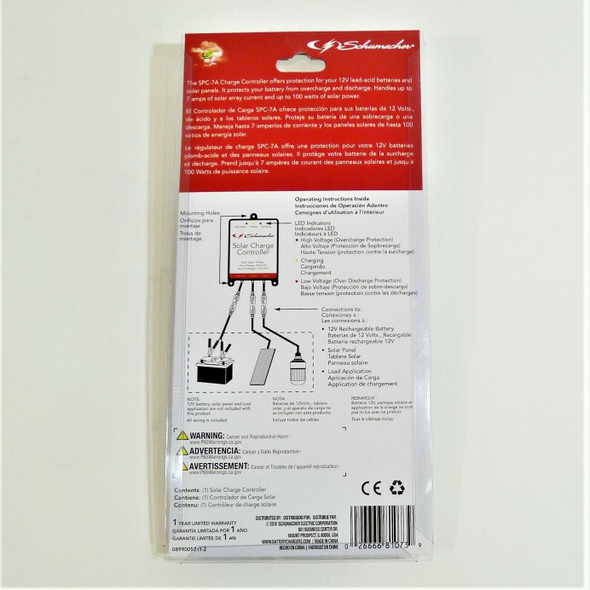 Schumacher Solar Charge Controller *NEW*
