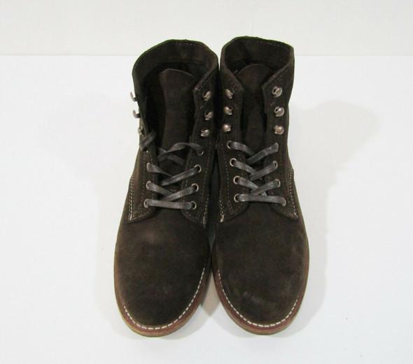 Wolverine 1000 Mile Men's Dark Brown Suede Boots Size 8D *Light Scuffs & Fraying
