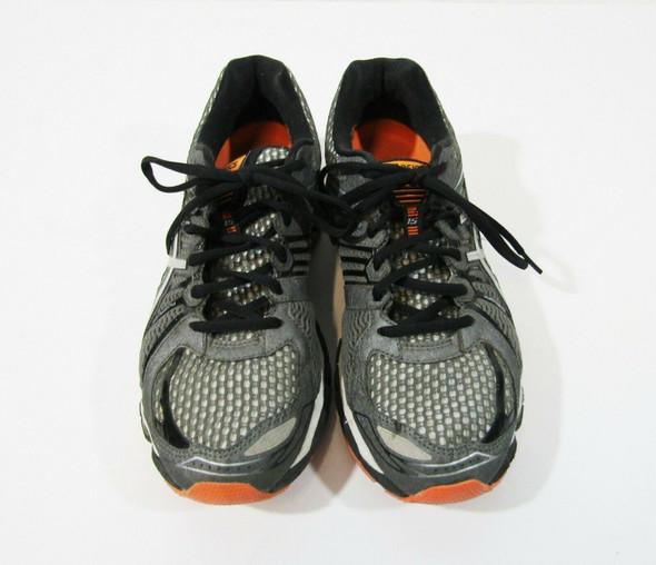 Asics Gel-Nimbus 15 Men's Gray & Orange Running Shoes Size 8
