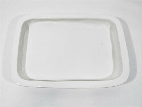 """Pottery Barn Napoli Rectangular Serving Platter 18""""W x 12.5""""D **USED, SEE DESCR."""