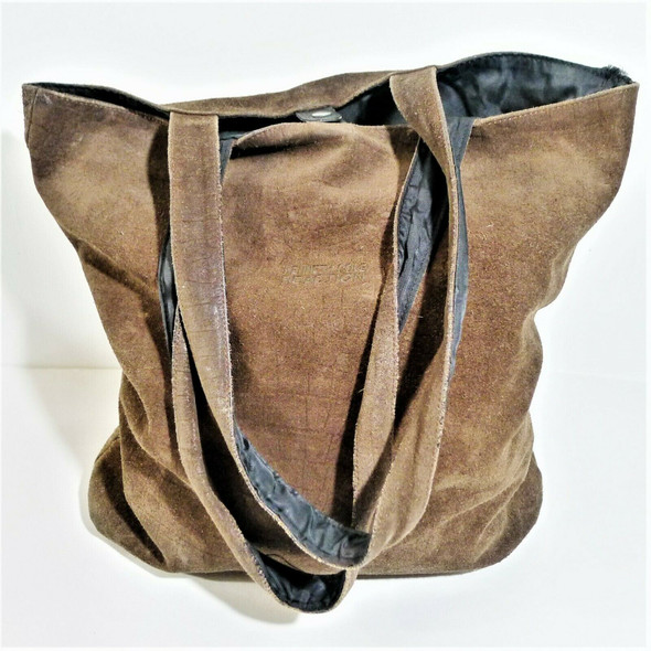 Kenneth Cole Reaction Brown Suede Tote Purse