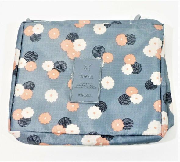 Blushmark Gray & Pink Floral Toiletry/Makeup Travel Storage Bag *New*