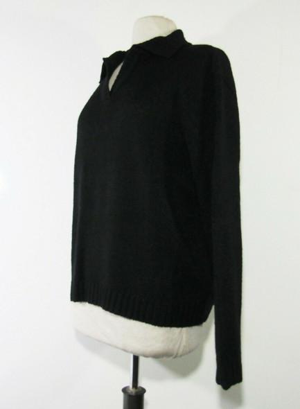 Carolyn Taylor Women's Black Long Sleeve Knit Sweater w/ Collar Size XL