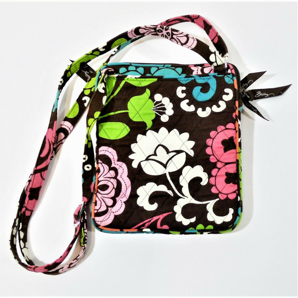 Vera Bradley Colorful Floral Textile Crossbody Purse