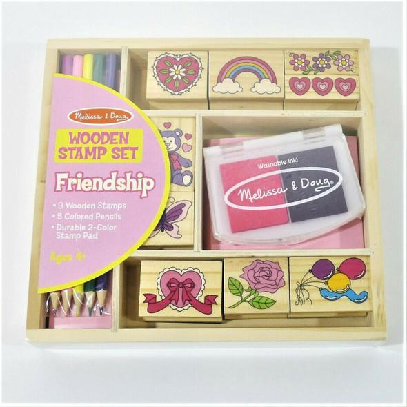 Melissa & Doug Friendship Themed Wooden Stamp Set *NEW*