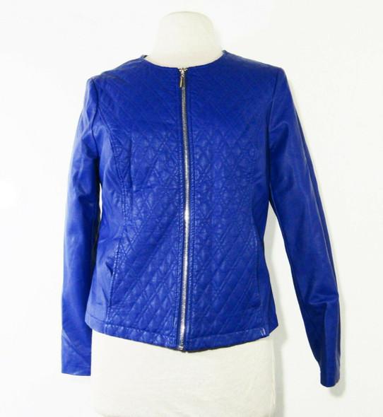 Alfani Women's Cobalt Blue Full Zip Jacket Size Medium