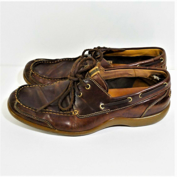 Cole Haan Brown Leather Loafers Men's Size 10M   *Used/Torn Inside Heel