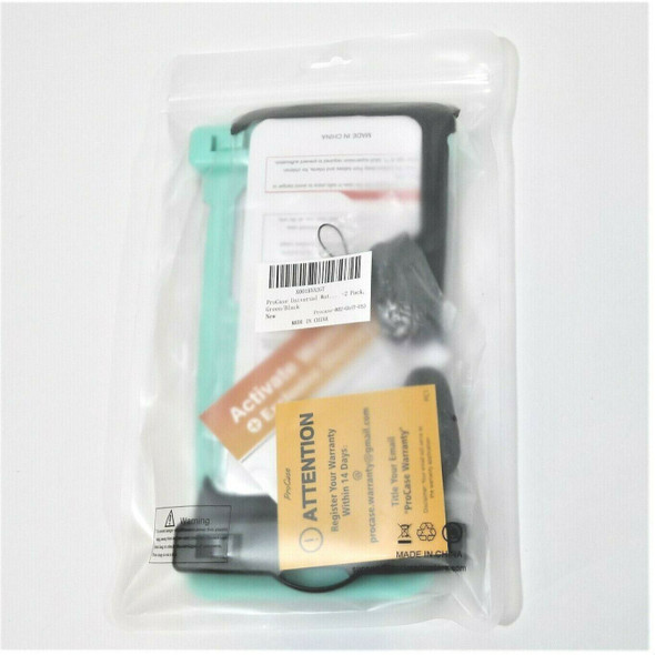 ProCase 2pc Green & Black Waterproof Phone Cases, Universal Size *NEW*