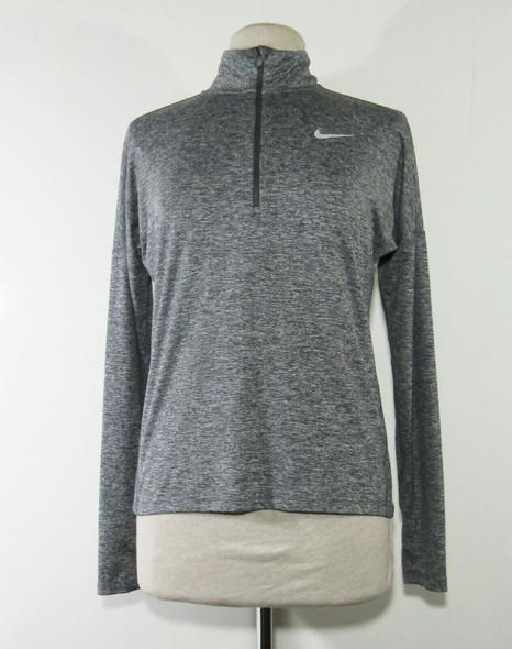 Nike Women's Gray Long Sleeve 1/4 Zip Lightweight Jacket Size Small