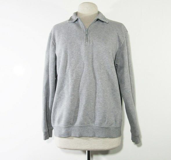 Croft & Barrow Women's Gray 1/4 Zip Pullover Jacket Size Medium