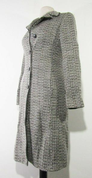 Sisley, Made in Italy, Women's Gray Tweed Coat Size 38