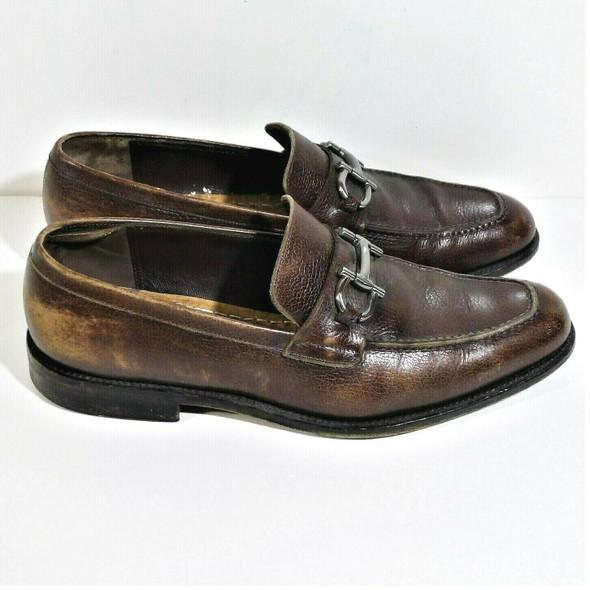 Salvatore Ferragamo Lavorazione Originale  Brown Leather Loafers Men's Size 8 2E