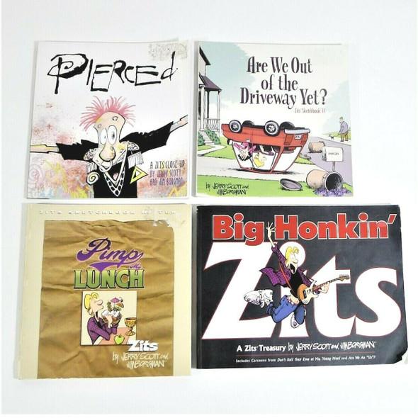 4pc Lot of Scott & Borgman Zits Paperback Comic Books