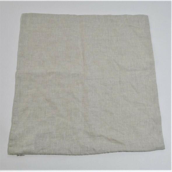 """West Elm Beige Linen 18"""" X 18"""" Throw Pillow Case"""