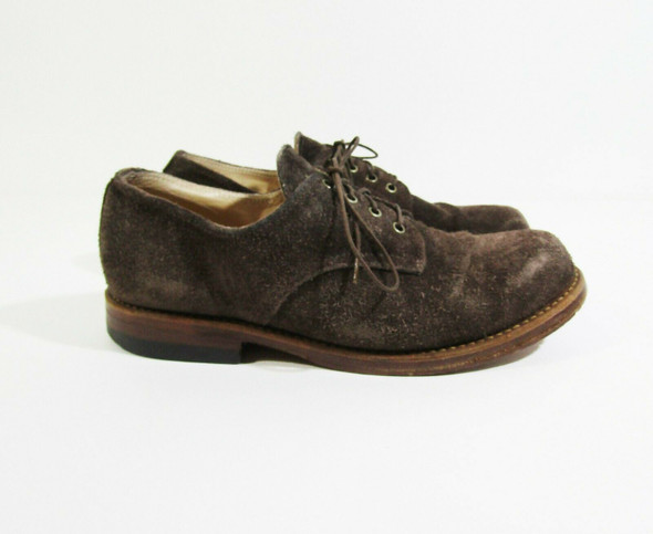 Ace Boot Company Men's Brown Suede Dress Shoes Size 8 E **HAS SCUFFS**