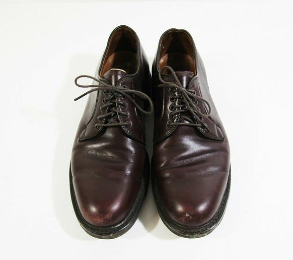 Alden Men's Burgundy Plain Toe Blucher Dress Shoes Size 8 B/D **HAS SCUFFS**