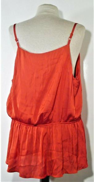 Bird Spaghetti Strap Red Flowy Blouse w/ Sash Women's Size 2X
