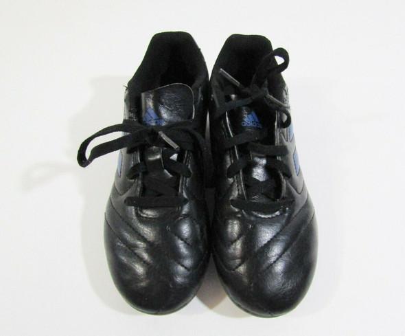 Adidas Goletto VII FG Boys Black & Blue Soccer Cleats Size 1 **LIGHT SCUFFS**