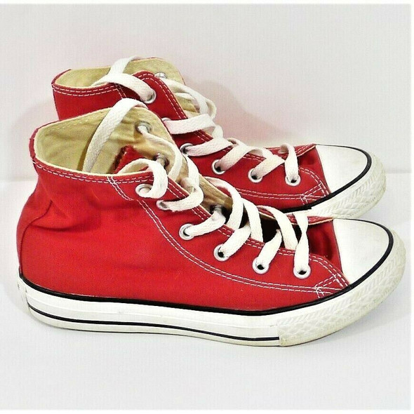 Converse All Star High Top Red Sneakers Kids' Size 13.5