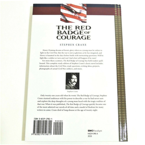 The Red Badge of Courage by Stephen Crane Hardcover Book EMC Edition