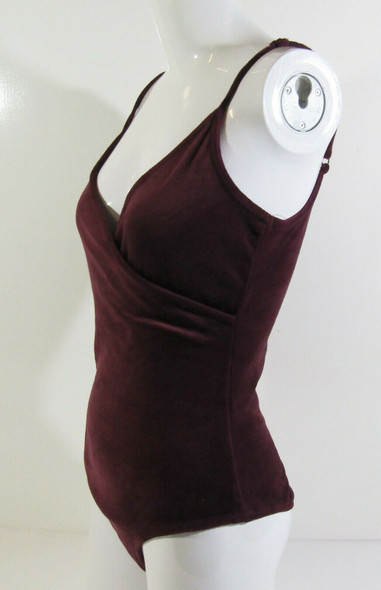Garage Women's Plum Sleeveless Pull On Bodysuit Size Medium **LIGHT FRAYING**