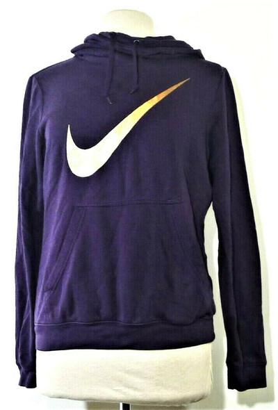 Nike Purple Cowl Neck Hoodie w/ Gold Logo Women's Size M