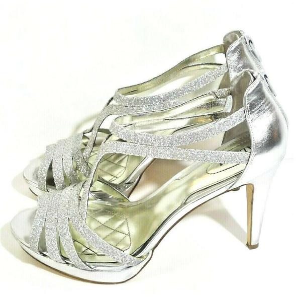 Alfani Silver Glittery Platform Heels Women's Size 8 *Imperfect Condition*