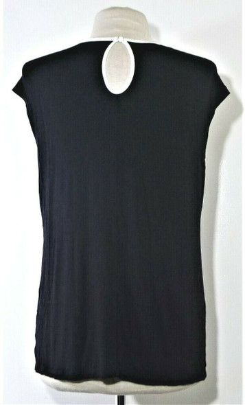 INC Black & White Casual Blouse Women's Size L
